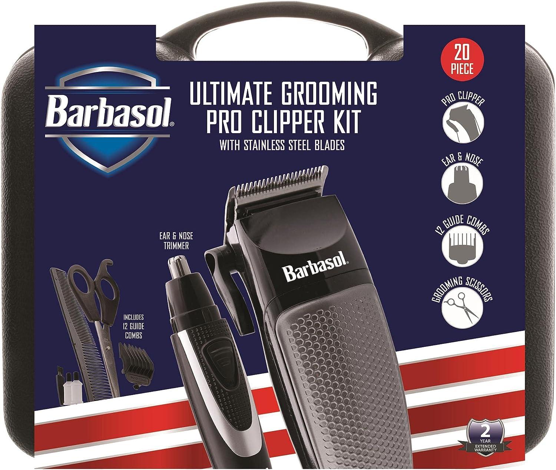 Barbasol Long-awaited Ultimate Grooming Pro Clipper Weekly update Stainless Blad Steel Kit