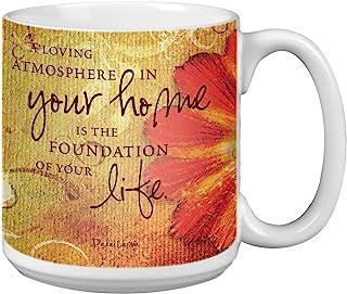 Tree-Free Greetings Extra Large 20-Ounce Ceramic Coffee Mug, Home Themed Inspiring Quote Art (XM29469)