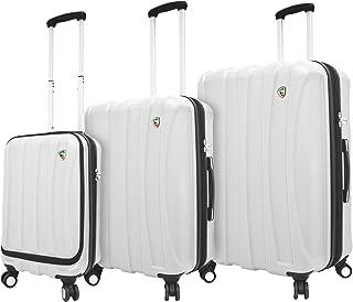 Mia Toro Italy Tasca Fusion Hardside Spinner Luggage 3pc Set, White, One Size