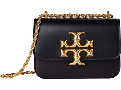 Tory Burch Eleanor Small Convertible Shoulder Bag (Black) Handbags