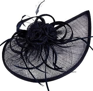 Women's Vintage Derby Fascinator Hat Pillbox Headband Feather Cocktail Tea Party