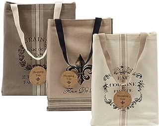 DII Cotton Heavy Duty Canvas Reusable Tote Bag, 15x15.5x4.25