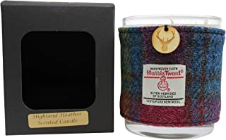 Created by the Ridleys Highland Heather Scented Boxed Harris Tweed Wrapped Soy Jar Candle