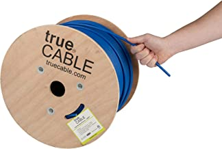 Cat6 Plenum Shielded (CMP), 1000ft, Blue, 23AWG Solid Bare Copper, 550MHz, ETL Listed, Overall Foil Shield (FTP), Bulk Ethernet Cable, trueCABLE