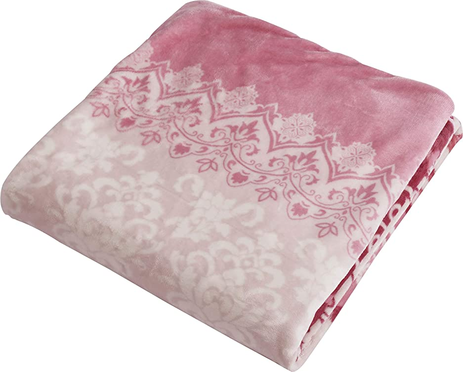 シンボル枝実験西川(Nishikawa) 掛けふとんカバー ピンク シングルロング 洗える あったか 掛け布団カバー 毛布にもなる ズレにくい FN-OH-SL