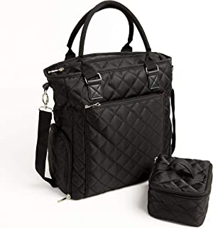 Marigold Breast Pump Bag - Black Portable Tote for Storing Pump and Transporting Milk. Includes Insulated Cooler and Large Side Pockets That fit Most Pumps Including Spectra & Medela.