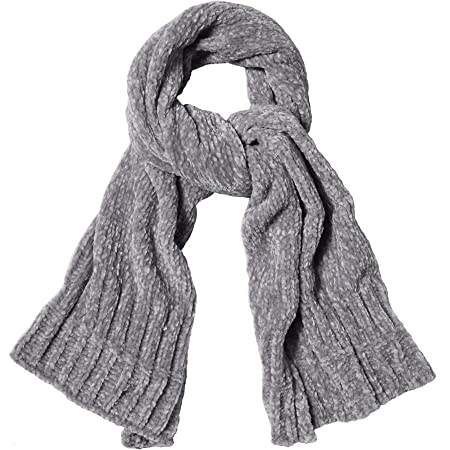 SOJOS Lightweight Ultra Soft Chenille Ribbed Thick Scarf Knit Shawl for Women for Fall Winter Shawl Wrap SC326