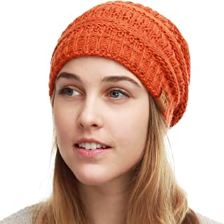 641dc590 THE HAT DEPOT Cable Knit Beanie - Soft Stretch Warm Chunky Beanie Skull  Winter Hat