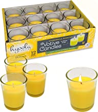 Citronella Candle Votives in Glass Cup - 12 Pack - Indoor and Outdoor Decorative and Mosquito, Insect and Bug Repellent Ca...