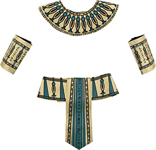 Zac's Alter Ego 4 Piece Fancy Dress Gold & Turquoise Pharaoh Egyptian Kit World Book Day Fancy Dress