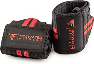 Motivated Fitness Wrist Wraps,  Best Heavy Duty with Thumb Loop,  Types of Workout or Exercise Including Weight Lifting,  Crossfit,  Powerlifting,  and Bodybuilding