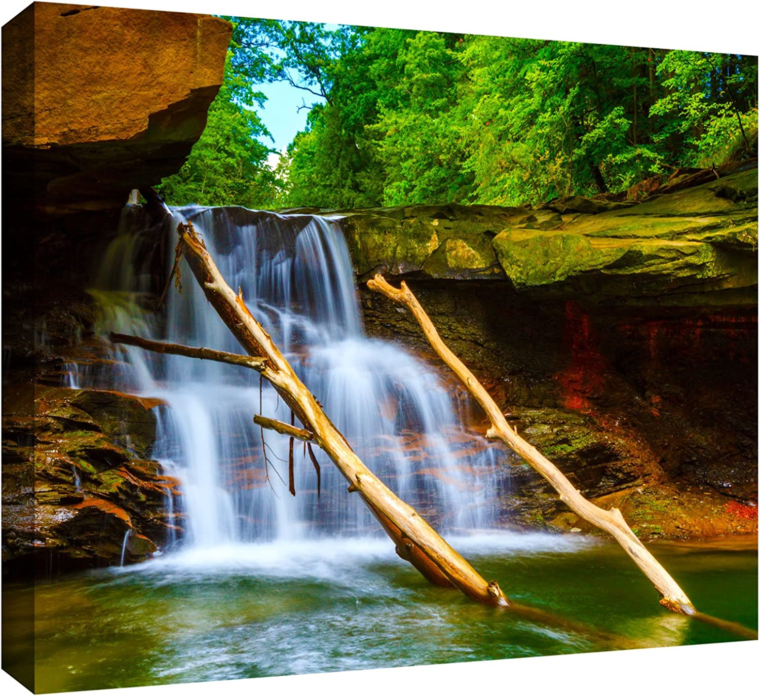 ArtWall Brecksville Falls Gallery Wrapped Canvas Art by Cody York, 12 by 18-Inch