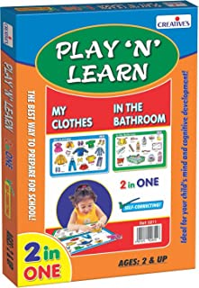 Creative 343 Educational Toys & Games 3 Years & Above,Multi color