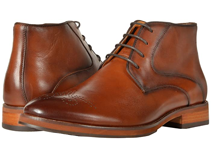 Florsheim  Blaze Chukka Boot (Cognac Smooth) Mens Dress Lace-up Boots