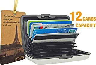 UTRAX 12 Slots Metal Cards Wallet Multi Pockets Aluminum Purse Credit Card Organizing..
