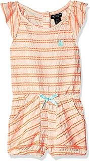 Girls' Popcorn Knit Stripe Romper