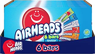 Airheads Candy Movie Theater Box Individually Wrapped Full Size Bars Non Melting, Assorted Fruit, Twelve 6ct Boxes