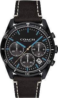 ساعة رجالية من كوتش مينا اسود حزام جلد بقر اسود - 14602412
