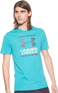 Under Armour Men's UA Gl Foundation Ss T T-Shirt, Green (Teal Rush), Medium