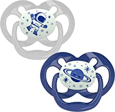 Dr. Brown's Advantage Glow-in-The-Dark 2 Piece Stage 2 Pacifiers, Blue, 6-12 Months
