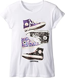 Converse Kids - Stacked Chucks Tee (Big Kids)