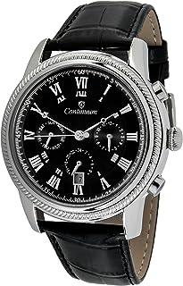 Continuum - Hombre Reloj de pulsera Movimiento automático Display analógico Correa de cuero negro - CT120110