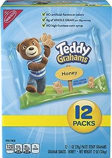 Teddy Grahams Honey Graham Snack Packs, 12 Count Box, 12 Ounce (Pack of 4)