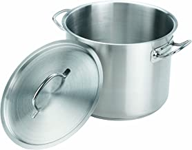 Crestware 24-Quart Stainless Steel Stock Pot with Pan Cover