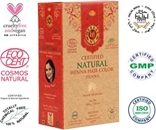 Herbal Me - Red Henna Hair Color 7.05 oz, CERTIFIED 100% Natural by Ecocert (France). VEGAN & HALAL approved, Zero chemicals