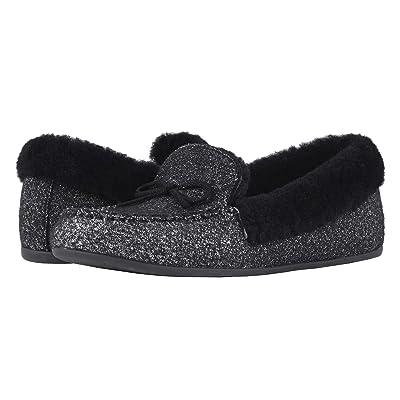 FitFlop Clara Moccasin (Black Glimmer Wool) Women