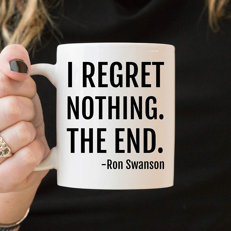 Lplpol Ron Swanson - Taza de café con texto en inglés