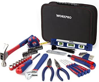 WorkPro 100 Piece Kitchen Drawer Tool Kit with Easy Carrying Pouch