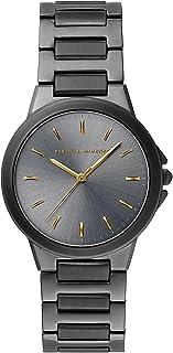 Rebecca Minkoff Women's Quartz Watch with Stainless Steel Strap, Grey, 18 (Model: 2200306)