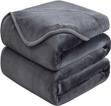 Soft Queen Size Blanket for Fall Winter Spring All Season Warm Fuzzy Microplush Lightweight Thermal Fleece Summer Autumn Blan