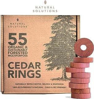 Paquete de 55 ambientadores de madera de cedro y cajones + bolas de polillas, 100% madera de cedr...