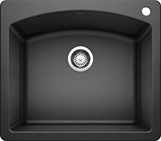 BLANCO 440210 Diamond Silgranit Drop-In or Undermount Kitchen Sink, 25