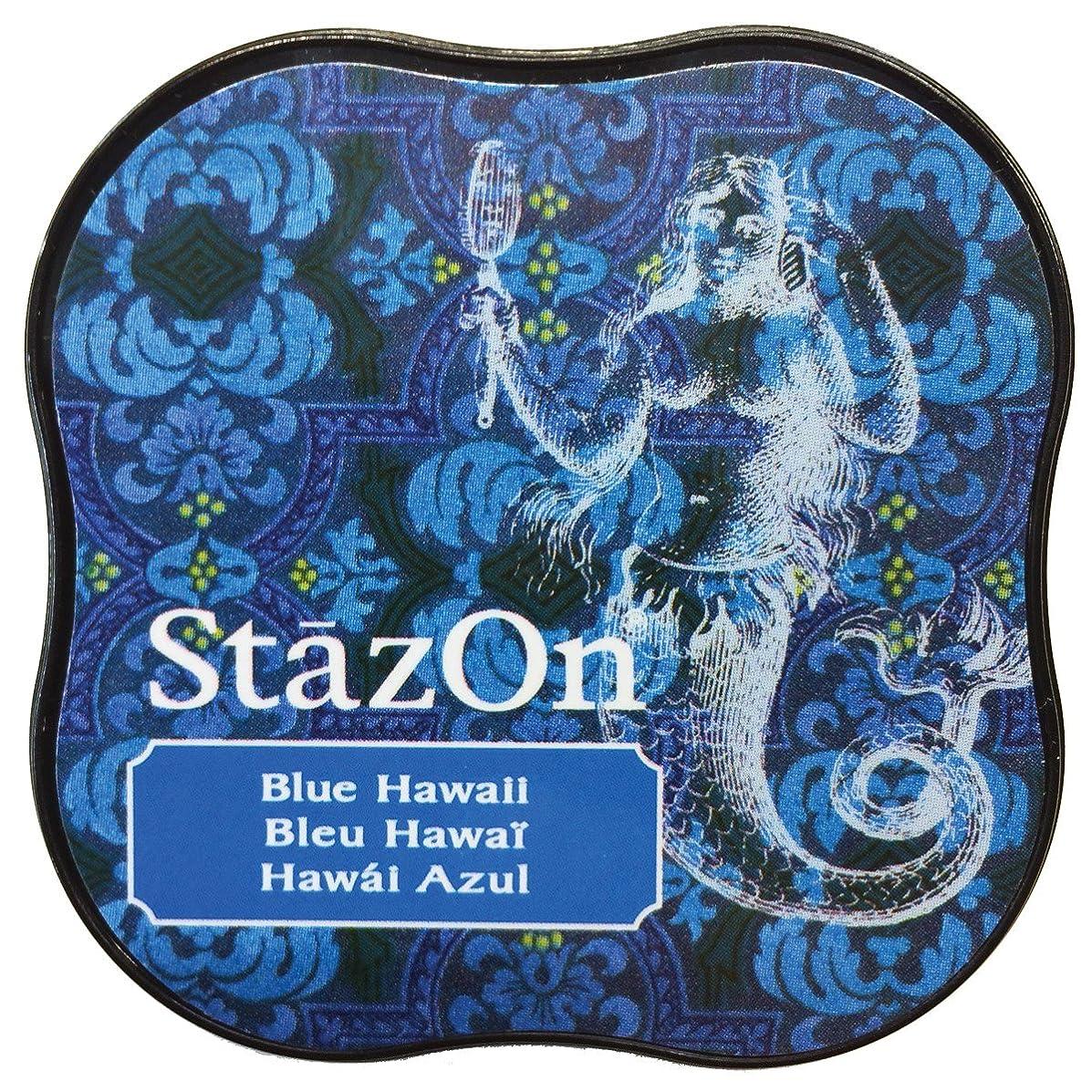 Tsukineko StazOn Midi Ink Pad, Blue Hawaii