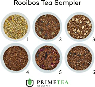 ROOIBOS TEA SAMPLERS - 6 Ounce Total ≈ 90 Servings - Delicious Vegan All Natural Flavors Caffeine Free Assortment of Loose Leaf Tea - Hot or Iced - No Artificial Flavor by Prime Tea (Rooibos #1)