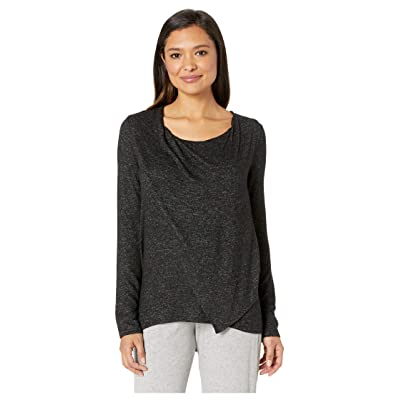 Donna Karan Sweater Lounge Top (Black Marled) Women