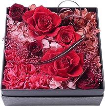 プリザーブドフラワー・BOXアレンジメント・スクエアー・レッド【プリザーブドフラワー・誕生日・記念日・御祝・母の日など】