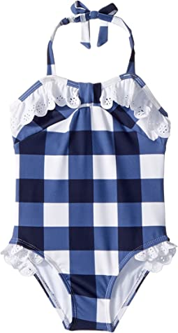 Gingham Eyelet One-Piece Swimsuit (Toddler/Little Kids/Big Kids)
