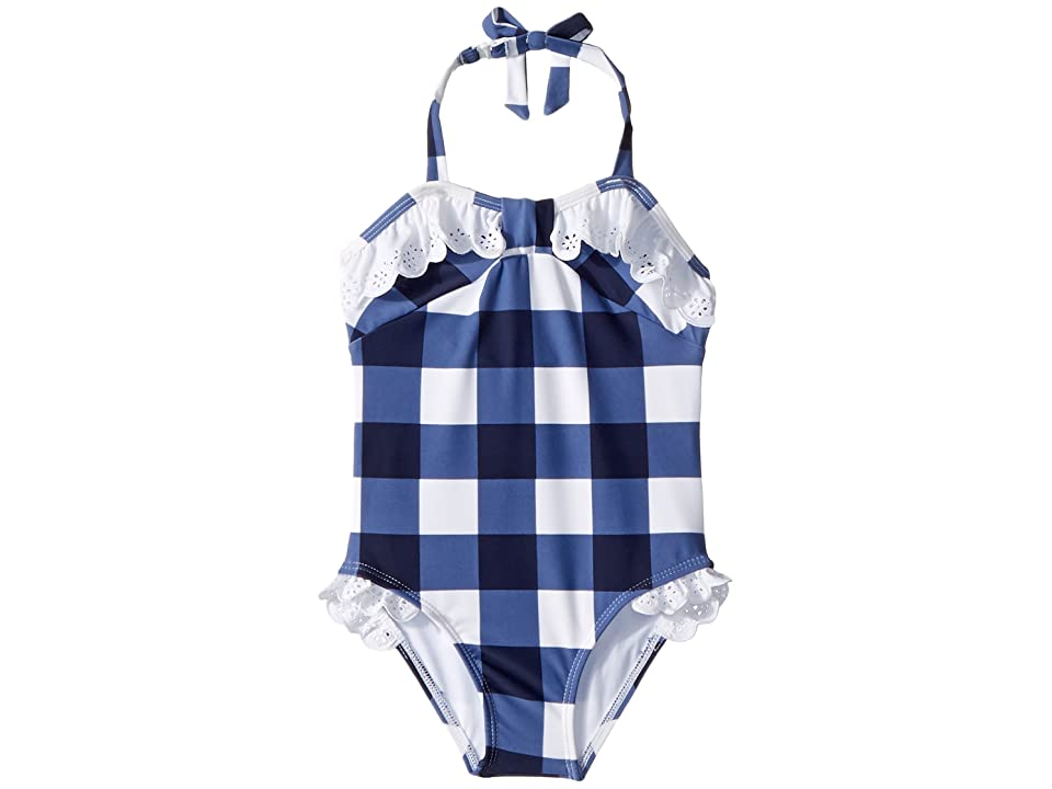 Janie and Jack Gingham Eyelet One-Piece Swimsuit (Toddler/Little Kids/Big Kids) (Multicolor) Girl