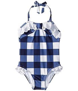Gingham Eyelet One-Piece Swimsuit (Toddler/Little Kids/Big Kids)