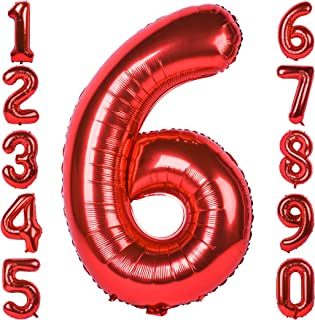 large mylar number balloons