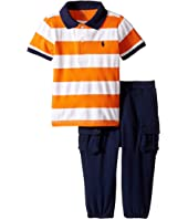 Ralph Lauren Baby - Mesh Atlantic Terry Stripe Pants Set (Infant)