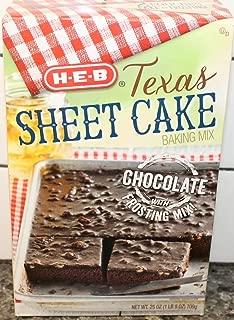 HEB Texas Chocolate Sheet Cake Baking Mix 25oz Box (Pack of 3)
