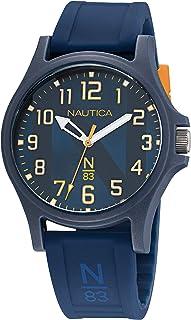 Nautica Men's Quartz Silicone Strap, Blue, 20 Casual Watch (Model: NAPJSLE23)