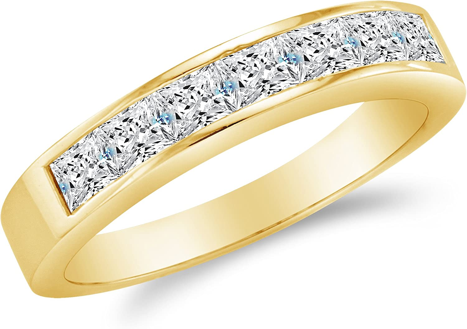 3mm Solid New arrival 14k White OR Yellow Gold Cut Princess Invisibl Long Beach Mall Channel