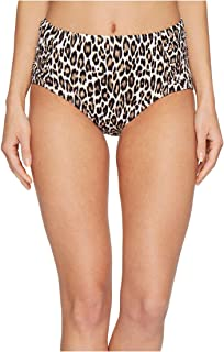 Women's Cat's Meow High-Waist Bikini Bottoms Handle Wood Size Small