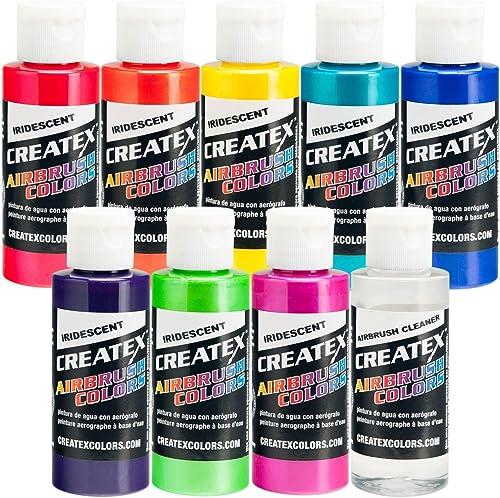 Iridescent 8 Createx Airbrush Paint Couleurs Set 2 Oz Bottles by Createx